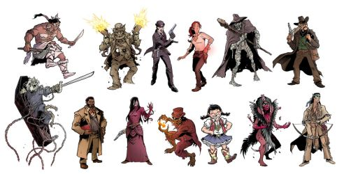 Sixth Gun Zombicide Characters by ink-imp
