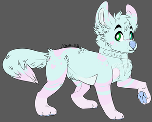 Pastel cotton candy adopt (open) by VexFox