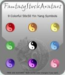 Avatar: Rainbow Yin Yang Icons by FantasyStockAvatars