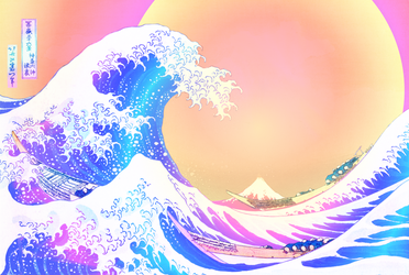 Great Wave T4 by artReall