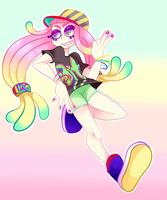 Anemone girl by mossandtree