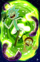 Rick And Morty: Commission by Smudgeandfrank