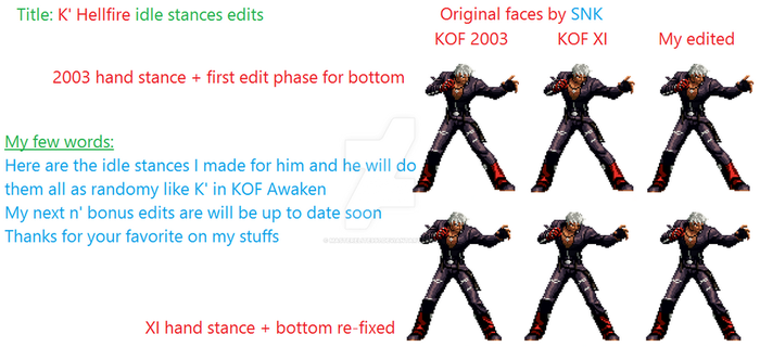 K' Hellfire 2k3 - XI stances edited by masterelite997