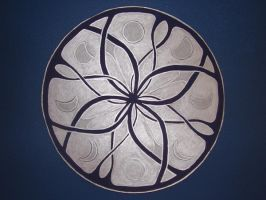 Celtic knot with Moonphases by FlameoftheWest7