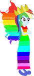 Rainbow Dash the rainbow butterfly princess by user15432