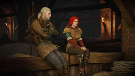 09 The Witcher 3 Geralt and Triss by judge1076