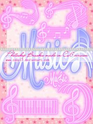 Music Photoshop Brushes by Coby17