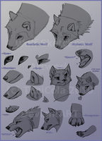 Wolf Sketches by TeniCola