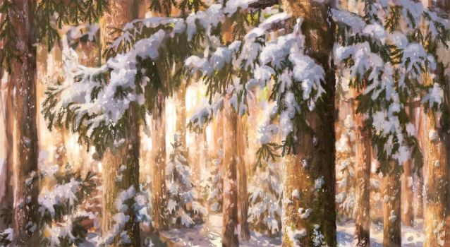 Winter forest by Helvende