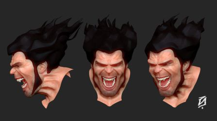Wolverine Face by patokali
