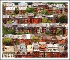 Roof Tops South End Boston by OFaia