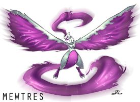 Pokemon Fusion: Mewtwo + Moltres = Mewtres by JAG-Comics