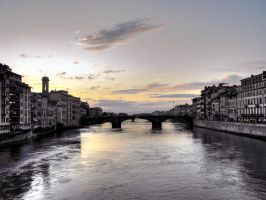 Sunset from Ponte Vecchio by Roji-Hachi