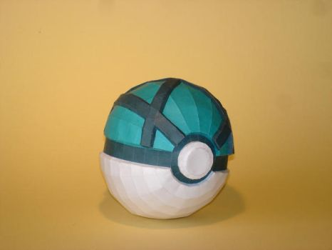 Pokeball Papercraft no. 3 by Skele-kitty