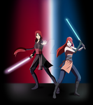 Collab: The Jedi Sisters (Naruto OC Crossover) by KitsMits