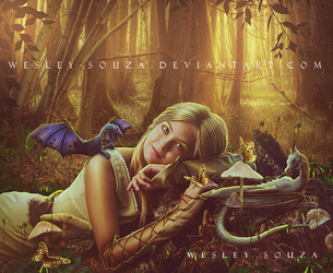 Sweet Girl and the little Dragons by Wesley-Souza