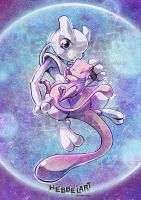 Mew and mewtwo by tikopets