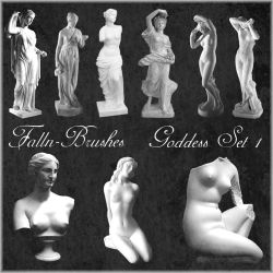 Goddess Statues Brushes Set 1 by Falln-Stock