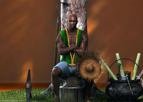 Oggun, the workers' protector by Shango-ThunderStones