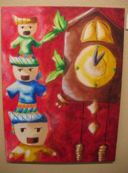 Cuckoo Clock with Weird Doll Things by MaddieFromMars