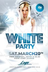 White flyer Psd by RomeCreation