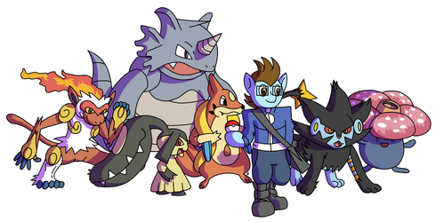 Commission - Pokemon Dream Teams, Team One by Passer-in-the-Storm