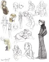 Elle...and Mias sketches by StressedJenny