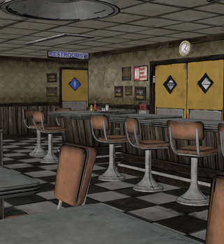 Truckstop Interior - TWD 400 Days (XPS) by AKandrov