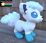 Ice Vulpix Plush by HappyKittyPlushies