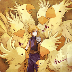 Cloud and Chocobo by tank2109
