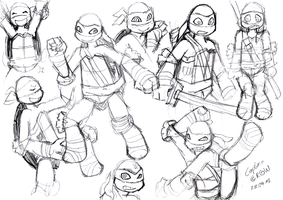 TMNTSketch~Part1 by Captain--Ruffy