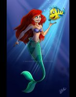 Gift: Ariel and Flounder by Anamated