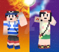 Pokemon Sun and Moon - Minecraft Skins by MarioMinecraftMix
