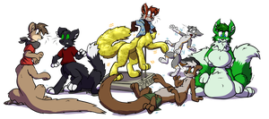 5 Normal Taurs and 1 Gold Taur by Virmir