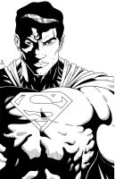 Superman close up Inked by TyndallsQuest