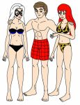Peter, Mary Jane and Black Cat by streetgals9000 by JQroxks21