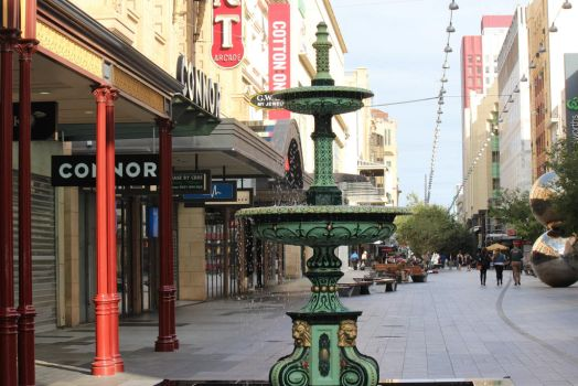 Rundle Mall fountain and Rundle Mall Balls by shireen41425