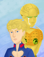 Giorno and Gold Experience by Egnar0