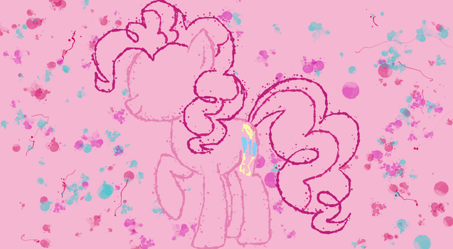 Pinkie Pie Splash Desktop Wallpaper by King-Thorax