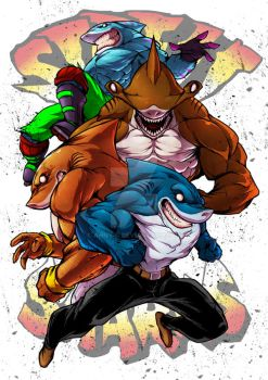 Street Sharks by Anny-D