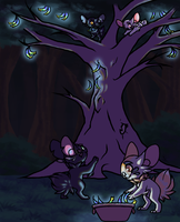 Weekly Prompt - Nighttime Fruit Gathering by OmbraniWolf