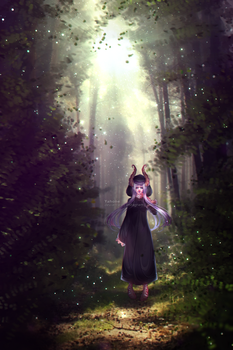 Little Black Riding Hood by Yahone