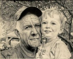 Old man and his son by wayfaring-artist