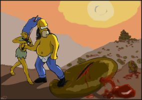 Homer The Barbarian by tdman45