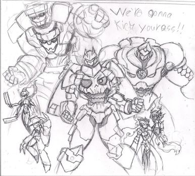 Everyone as mechs by heavy147