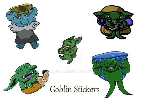 Goblin Stickers by Le-Smittee