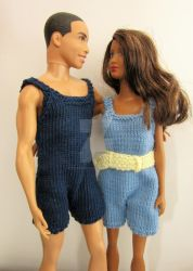 1:6th scale knitted swimsuits by buttercupminiatures