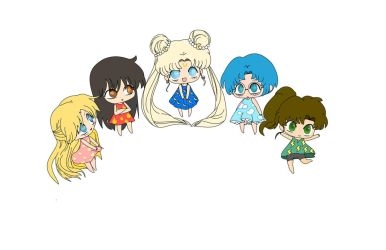 sailor scouts  WIP maybe by peore