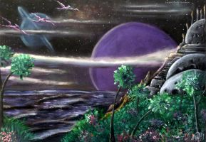 Landscape from another planet by LuciferArcadia