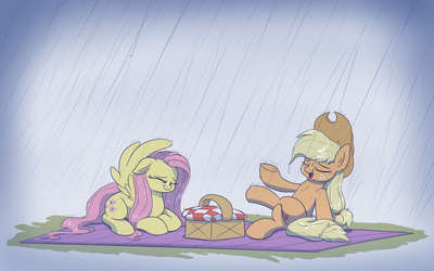 Rainy day picnic by Heir-of-Rick